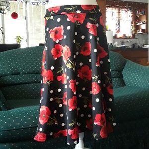 Dresses & Skirts - Poppy and polka dot skirt